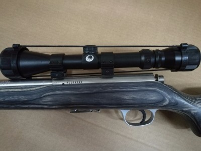 Rifle de precisión Marlin 17 HMR con visor Optisan 3-9x40